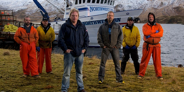 """""""Deadliest Catch"""" star Edgar Hansen [fourth from the left] will not face any jail time due to a plea deal reached with prosecutors."""