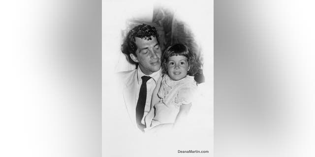 Dean Martin with daughter Deana as a toddler.