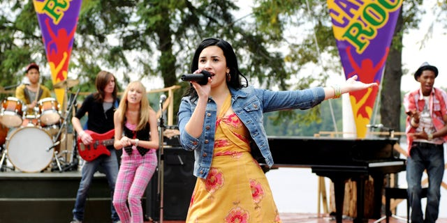 "Lovato rose to fame after appearing in Disney Channel's 2008 ""Camp Rock."""