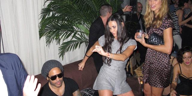 Demi Moore parties in Miami.