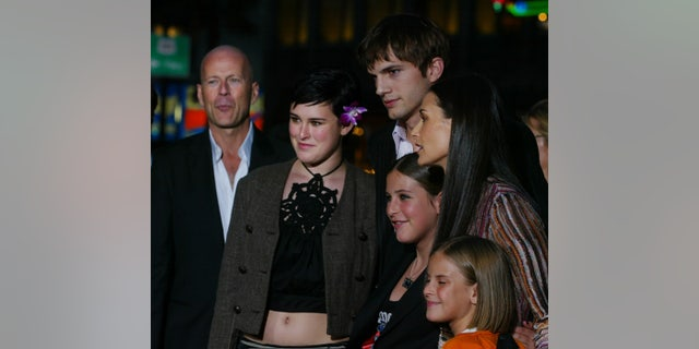 "Actress Demi Moore,(R) one of the stars of the new film ""Charlie's Angels