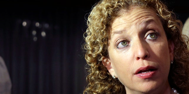 FILE: Aug. 26, 2014:  Democratic National Committee Chairwoman Debbie Wassserman Schultz, D-Fla.,  in Weston, Fla.