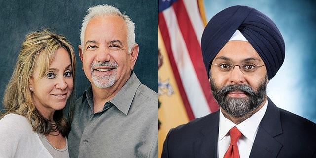 New Jersey Radio Hosts Dennis Malloy and Judi Franco, left, were taken off air after calling New Jersey Attorney General Gurbir Grewal 'Turban Man.'