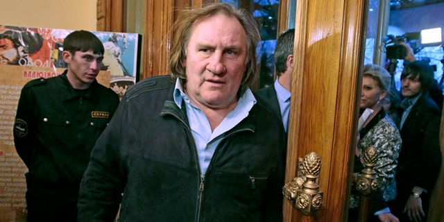Feb. 22, 2013: French actor Gerard Depardieu arrives for the opening ceremony of the Illusion movie theater after its restoration in Moscow, Russia.