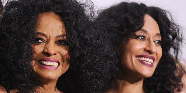 Tracee Ellis Ross with her mother, Diana Ross.