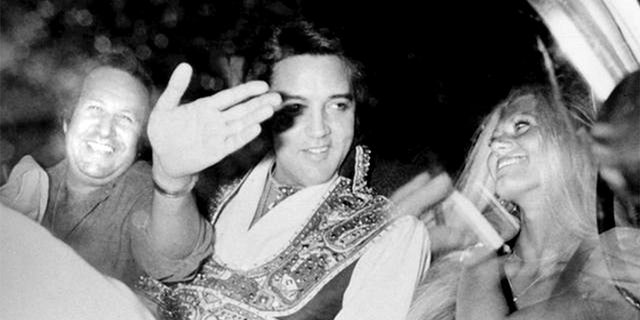 Diana Goodman with Elvis Presley.