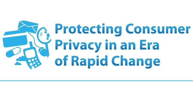 """The cover of an FTC report on online privacy that calls for the creation of a """"do not track"""" button for the Internet."""