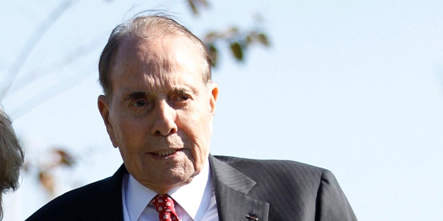 FILE: November 1, 2011: Former Sen. Bob Dole, R-Kansas, at Ronald Reagan National Airport near Washington, D.C.