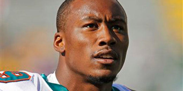 Oct. 17, 2010: File photo shows Miami Dolphins wide receiver Brandon Marshall prior to an NFL football game against the Green Bay Packers, in Green Bay, Wis.