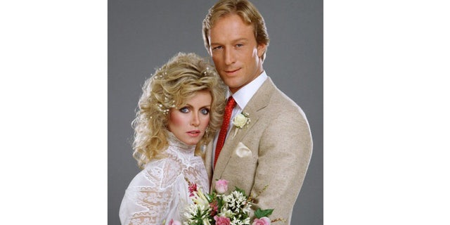 Donna Mills with co-star Ted Shackelford.