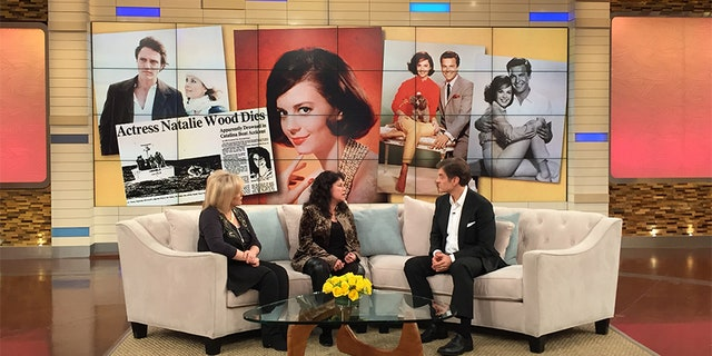 Dr. Oz (right), Lana Wood and Nancy Grace discussing the death of actress Natalie Wood.