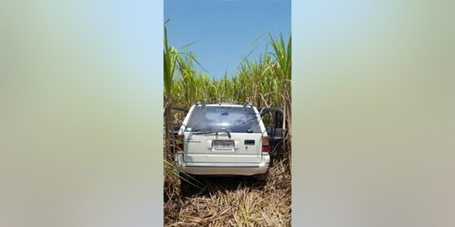 The car of Francesca Matus, 52, turned up last year in a sugar cane field in Belize, about 10 miles from the bar, where she and Drew DeVoursney, 36, a U.S. Marine veteran from Georgia, last were seen alive. (FOX5 Atlanta)