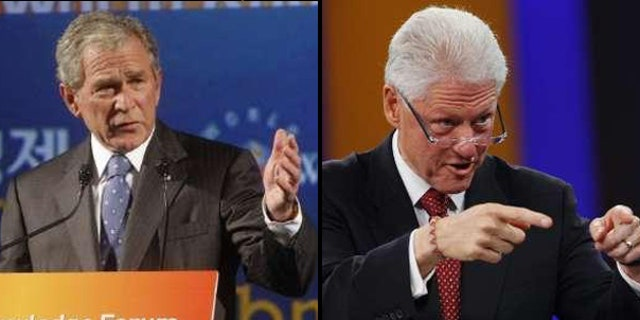 """An event promoted as a """"debate"""" between George W. Bush and Bill Clinton in New York City this February has been canceled, after both former presidents objected to the way the forum was hyped. (Reuters)"""