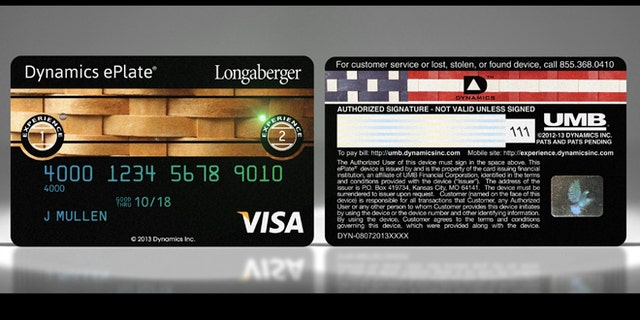 A high-tech magnetic strip from Dynamics is buried within the credit card, meaning the company can change the strip's color -- or print patterns on it.
