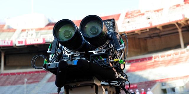ESPN tests out 3D cameras on Sept. 12, 2009 in Ohio Stadium, Columbus, Ohio