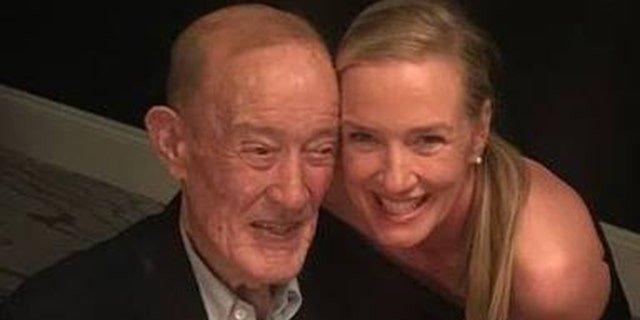 Earl F. Brosnahan Jr, left, reportedly died on Wednesday. He was 89. He is seen here pictured with his daughter, Eve Brosnahan Brisley.