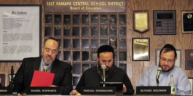 Some members of the East Ramapo Central School District Board of Education