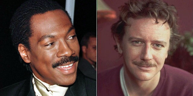 Eddie Murphy, left, and Judge Reinhold, right, are seen in these file photos.