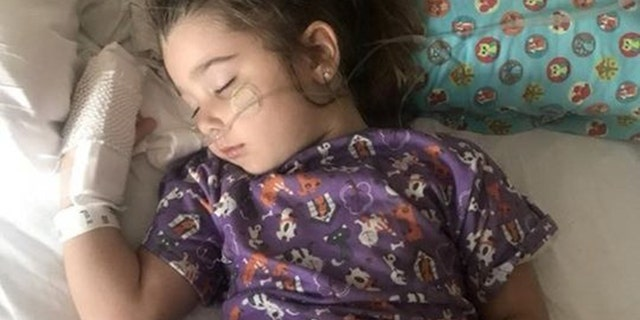 Elianna Grace, a 4-year-old from Sarasota, Florida, developed aspiration pneumonia after ingesting pool chemicals while swimming April 14.