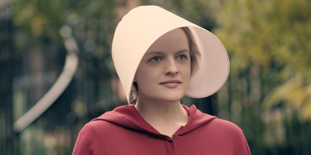 "Elisabeth Moss plays June/Offred in ""The Handmaid's Tale."""