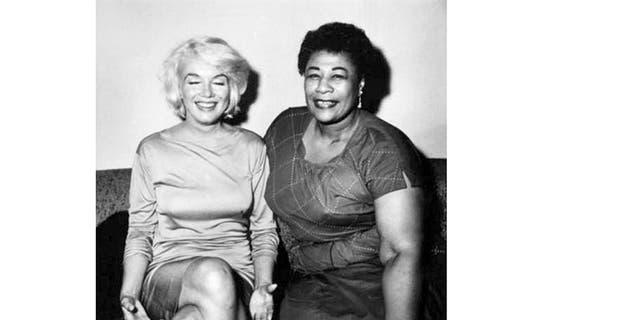 Ella Fitzgerald and Marilyn Monroe in 1961.