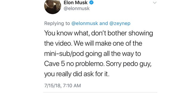 Tech billionaire Elon Musk deleted a tweet calling a rescuer of the 12 boys from a Thailand cave a pedophile. (Twitter)