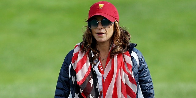 Herman was first spotted with Woods at the Presidents Cup last year.