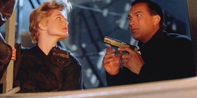 "Erika Eleniak starred opposite Steven Seagal in ""Under Siege."""