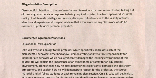 College student kicked out of class for telling professor