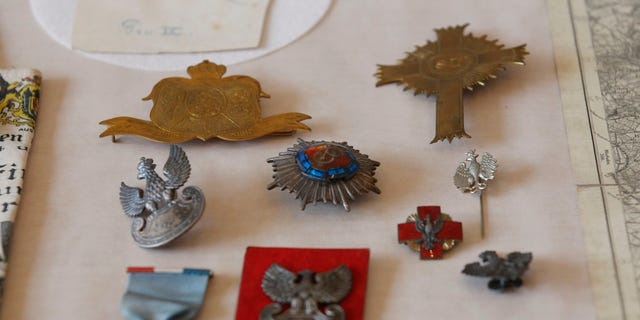 June 20, 2012: Photo taken at FBI Headquarters in Chicago, shows some of the more than 120 stolen artifacts missing for decades from the  Chicago Polish Museum of America that were returned to the Museum by the FBI.