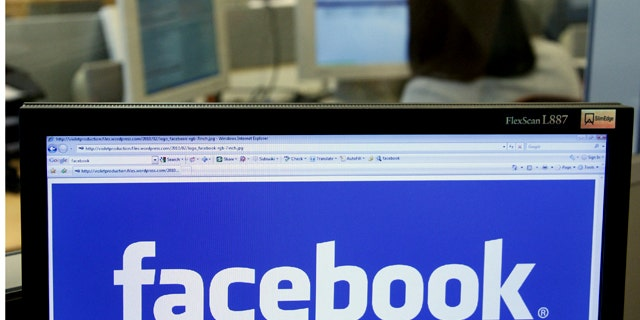 April 21, 2010: The Facebook logo is displayed on a computer screen in Brussels.
