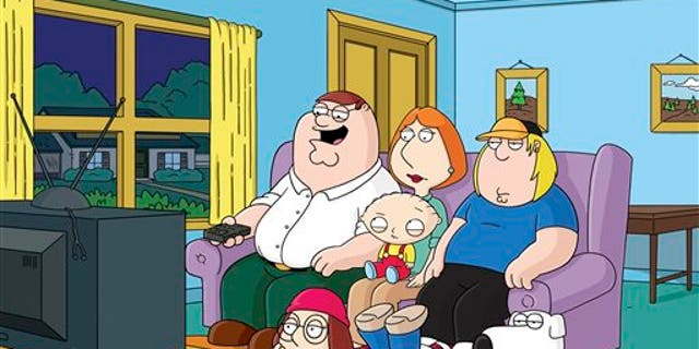 """This image released by Fox shows characters from the Fox animated series, """"Family Guy.""""  Fox is pulling from websites an episode of """"Family Guy"""" that depicts mass deaths at the Boston Marathon and has no immediate plans to air it again. Fox spokeswoman Gaude Paez says the episode has been removed from Fox.com and Hulu.com."""