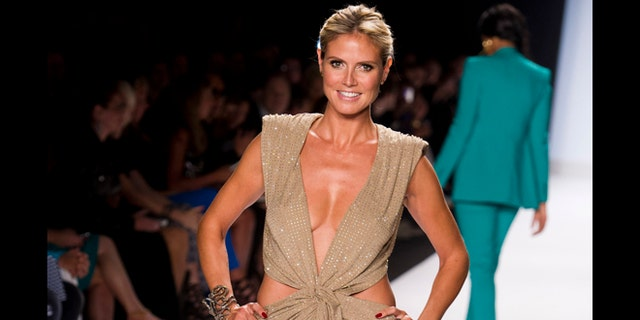 Sept. 7, 2012: Heidi Klum walks the runway at the Project Runway finale fashion show during Fashion Week in New York.