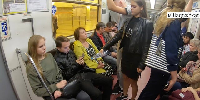 """The 20-year-old activist defines """"manspreading"""" as """"the habit of some men to sit widely with their legs spread in the subway and other public transportation, this way taking up more than one [seat.]"""""""