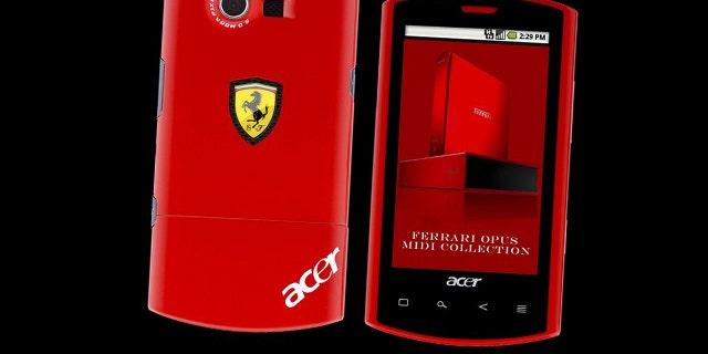 Acer on Friday unveiled the new Liquid smartphone developed in a partnership with Ferrari. The phone runs Google's Android software, and Acer hopes it will boost the company's so far limited role in the increasingly crowded smartphone market.