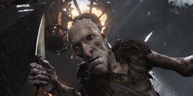 """This film image released by Warner Bros. Pictures shows the character Cook, voiced by Philip Philmar, in a scene from """"Jack the Giant Slayer."""""""