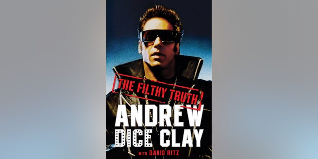 """Andrew """"Dice"""" Clay on the cover of """"Filthy Truth."""""""