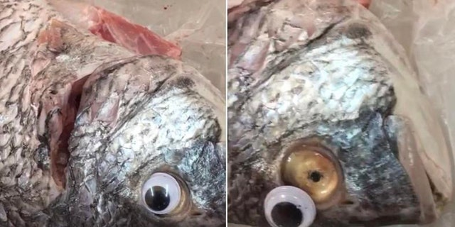 A woman reportedly discovered the deceitful practice while washing the fish.
