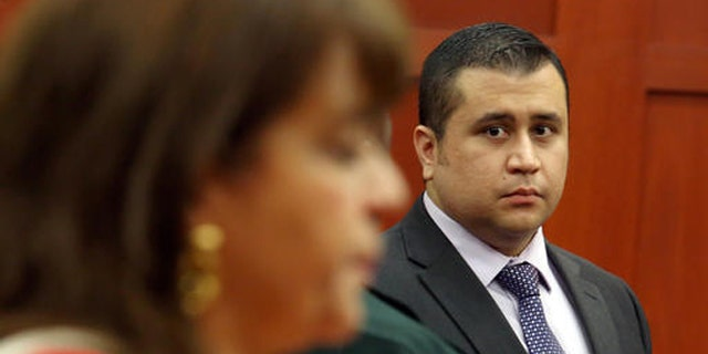 FILE- In this July 3, 2013, file photo, George Zimmerman looks at State Attorney Angela Corey during a recess in his trial at the Seminole County circuit court, in Sanford, Fla. Corey, the Florida prosecutor who failed to win a second-degree murder conviction against George Zimmerman after he shot Trayvon Martin, could lose her bid for re-election. Corey is up against two opponents in the Aug. 30, 2016, Republican primary for the state attorneys office. (AP Photo/Orlando Sentinel, Jacob Langston, Pool, File)