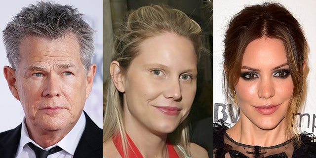 From left to right: David Foster, his daughter Amy Foster, and his fiancee Katharine McPhee.