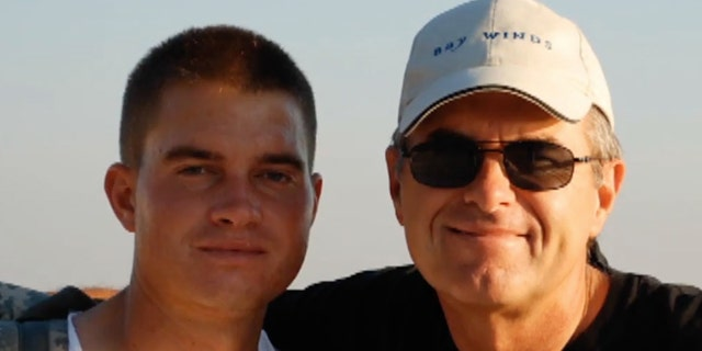 Frank Gross with his father Craig; Frank was killed in 2011 by a roadside bomb in Afghanistan