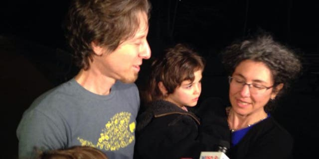 April 12, 2015: Danielle and Alexander Meitiv speak to reporters after being reunited with their children at the Montgomery County (Md.) Child Protective Services office in Rockville, Md.