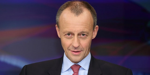 "Friedrich Merz (pictured) also called for intervention in U.S. politics, saying there is a need to ""intensify the dialogue with those social and political groups and institutions in America that do not follow the battle cry 'America First'"""