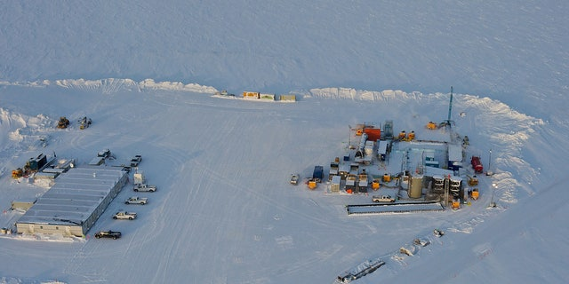 In this 2012 photo provided by ConocoPhillips Alaska Inc., a drill rig at Prudhoe Bay on Alaskas North Slope is seen. This rig is testing a method for extracting methane from methane hydrate.