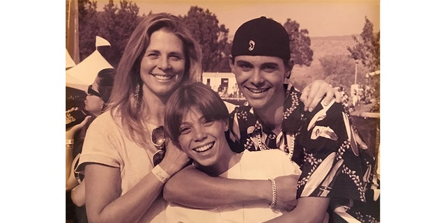 Actress Lindsay Wagner with her sons.