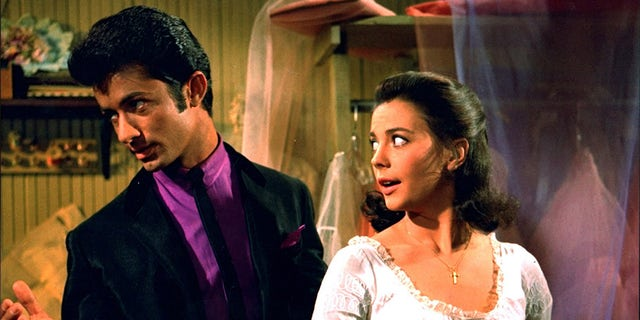 "George Chakiris acting alongside Natalie Wood in ""West Side Story."""