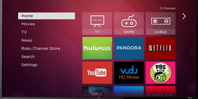 This image provided by Roku Inc., shows a screen frame grab of Roku's service. Internet streaming platform company Roku, Inc., is launching a line of TVs that plays back video from services like Netflix without requiring an extra set-top box. While similar to smart TVs on the market already, Roku's platform with some 1,200 apps is far more comprehensive for those seeking out niche content. Roku plans to showcase them on the sidelines of the annual gadget show in Las Vegas, International CES, starting Monday, Jan. 6, 2014. (AP Photo/Roku Inc.)