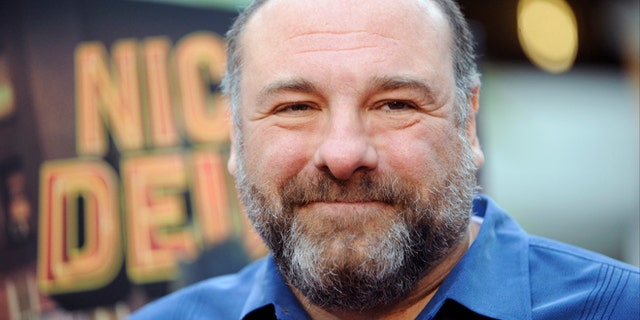 """May 20, 2013: This file photo shows actor James Gandolfini at the LA premiere of """"Nicky Deuce"""" in Los Angeles. HBO and the managers for Gandolfini say the actor died Wednesday, June 19, 2013, in Italy. He was 51. (AP)"""