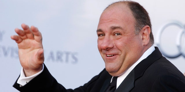 Actor James Gandolfini arrives at the BAFTA Brits to Watch event in Los Angeles, California July 9, 2011. Prince William and his wife Catherine are on a royal visit to California from July 8 to July 10. REUTERS/Fred Prouser (UNITED STATES - Tags: ENTERTAINMENT) - RTR2OP2J