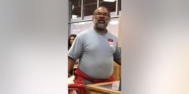 "The actor who played Elvin in The Cosby Show is now working as a cashier at Trader Joe's, exclusive photos reveal. See story NYCOSBY. A shopper spotted Geoffrey Owens, 57, sitting behind a till at the discount store in Clifton, New Jersey, where staff earn around $11 an hour.  Wearing an ID badge bearing his name, the former star wore a Trader Joe's t-shirt with stain marks on the front as he weighed a bag of potatoes. Karma Lawrence, 50, was grocery shopping with her wife, security manager Yanelle, 40, when she saw Owens at around 7.30pm on Saturday and snapped some photos. The medical secretary, from Clifton, said: ""I was just in Trader Joe's and I said to my wife, I said, ''Wait a minute, that's the guy from The Cosby Show.' ""She looked at him and said, 'It looks like him. He's a little heavier.''I pulled up a site on the internet to look at a picture of him and said, 'That is him.' ""I have never seen him at Trader Joe's before. I was getting a bunch of groceries and he wasn't really looking at anybody, but he said, 'Have a nice day.' ""He looked bloated and fat and unhappy. I guess with the whole Cosby thing…"" Owens played Elvin Tibideaux, the husband of Sondra Huxtable, on the final five seasons of NBC sitcom The Cosby Show, between 1985 and 1992."